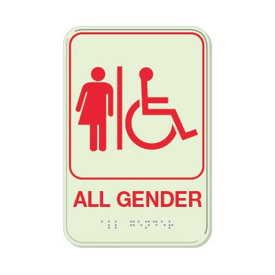 All Gender (Accessibility) - Glo Brite Braille Signs