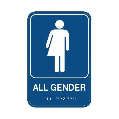 All Gender Restroom Sign with Braille