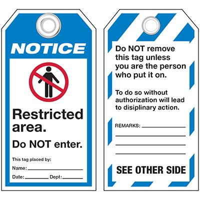 ANSI Restricted Area Tags