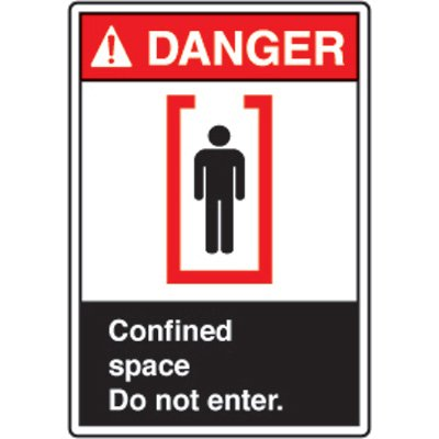 ANSI Safety Signs - Danger Confined Space Do Not Enter