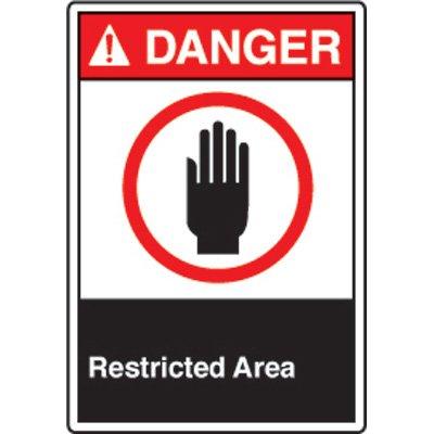 ANSI Safety Signs - Danger Restricted Area