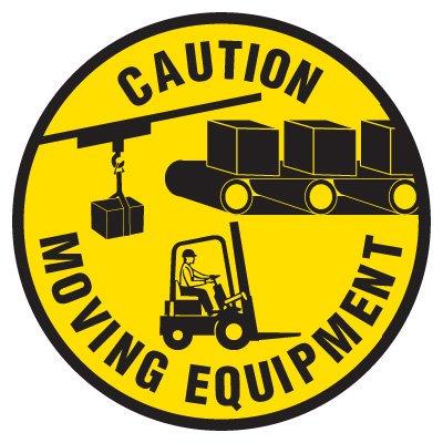 Anti-Slip Floor Markers - Caution Moving Equipment
