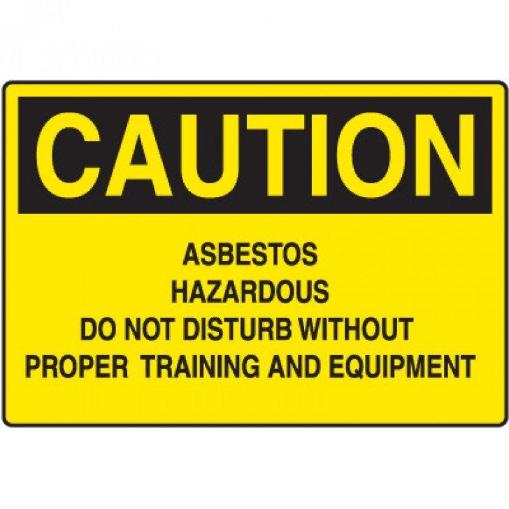 Asbestos Caution Sign - Asbestos Hazardous Do Not Disturb