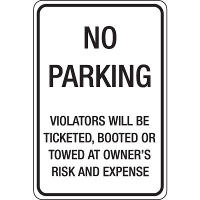 Auto Boot Warning Signs- No Parking