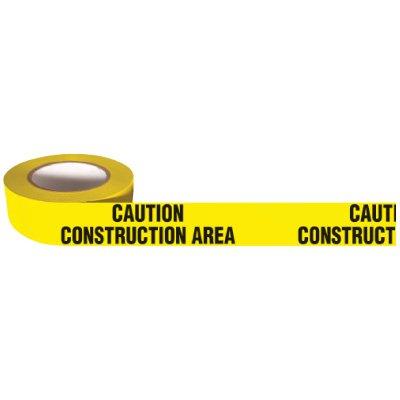 Barricade Tape Mini Rolls -Caution Construction Area