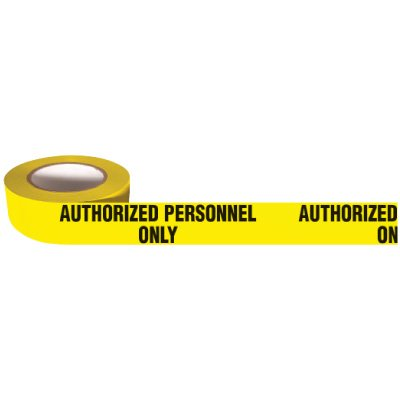 Barricade Tape Mini Rolls - Authorized Personnel Only