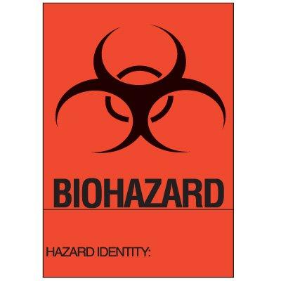 Biohazard Hazard Identity Labels - Biohazard