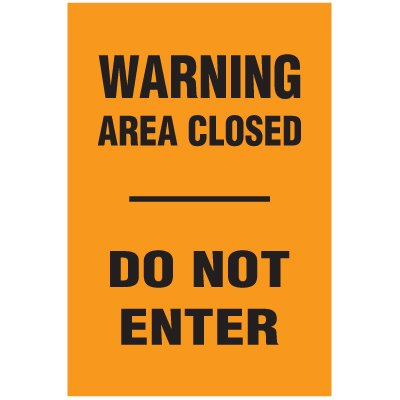 Blasting Barricade Sign Stands - Warning Area Closed Do Not Enter