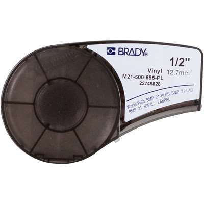 Brady M21-500-595-PL BMP21 Plus Label Cartridge - White on Purple
