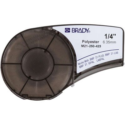 Brady M21-250-423 BMP21 Plus Label Cartridge - Black on White