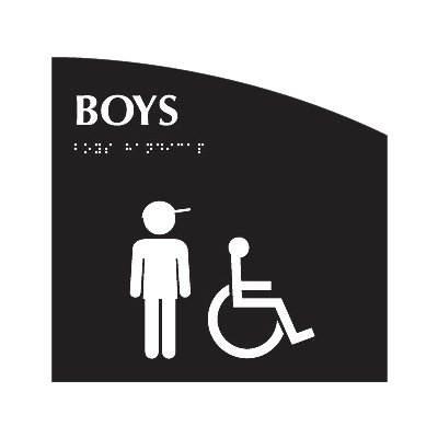 Boys (Accessibility) - Evolution Restroom Signs