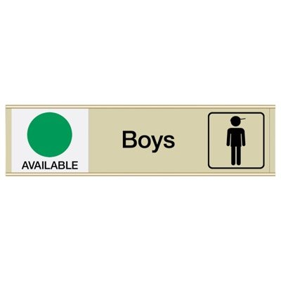 Boys Available/In Use - Engraved Restroom Sliders