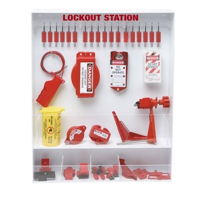 Brady Fully Equipped White Lockout Station - Contains 68 Components (99694)