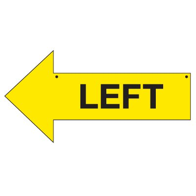 Bulk Arrow Signs - Left
