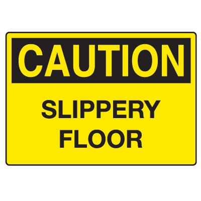 Fall Hazard Signs - Caution Slippery Floor