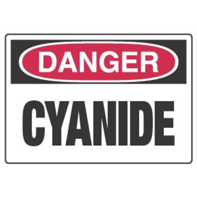 Chemical Hazard Danger Sign - Cyanide