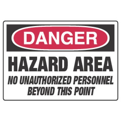 Chemical Hazard Danger Sign - Hazard Area