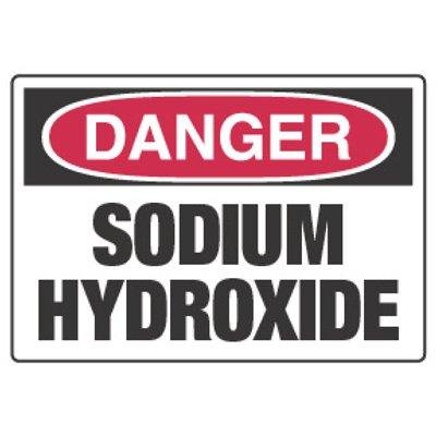 Chemical Hazard Danger Sign - Sodium Hydroxide