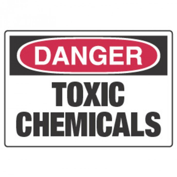Chemical Hazard Danger Sign - Toxic Chemicals