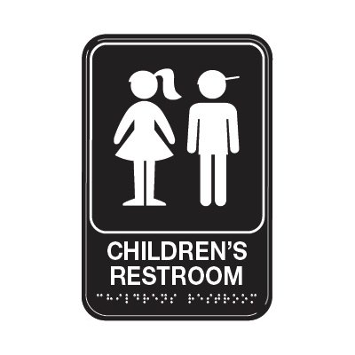 Children's Restroom - Graphic ADA Braille Tactile Signs
