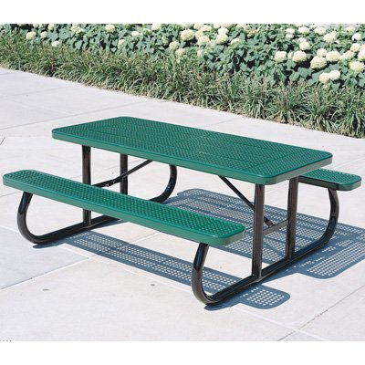 Coated Steel Rectangular Picnic Tables