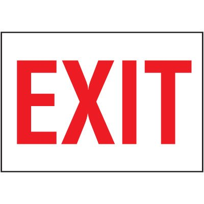 Cold Adhesion Safety Labels - Exit