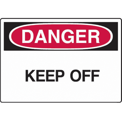 Construction Safety Signs - Danger Keep Off