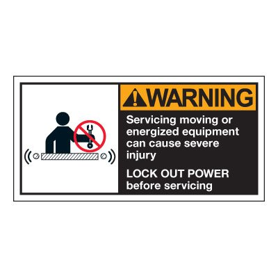 Conveyor Safety Labels - Warning Servicing