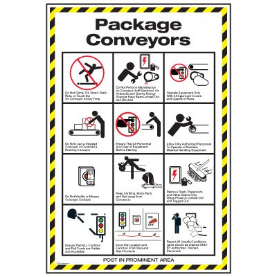 Conveyor Safety Poster - Package Conveyor Safety