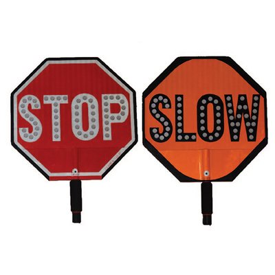 Cortina LED Stop/Slow Sign HIP Paddles
