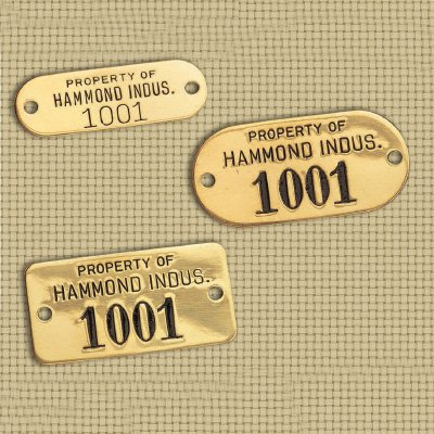 Custom Brass or Aluminum Tags