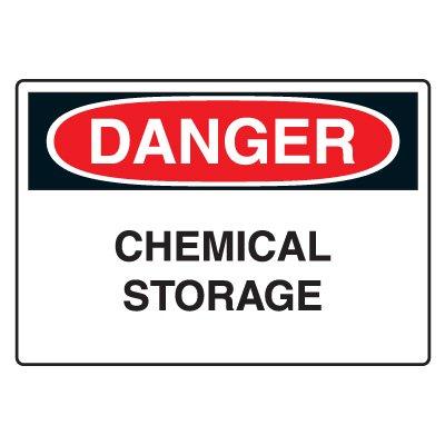 Danger - Chemical Storage Sign