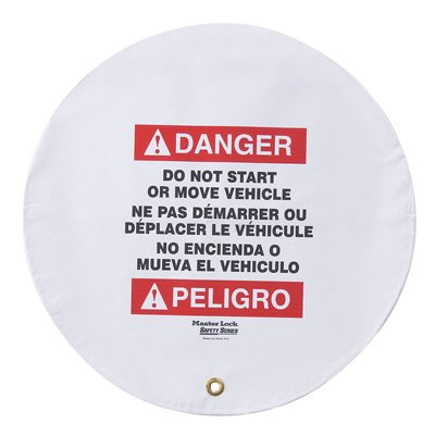 Danger Do Not Start Or Move Vehicle - Trilingual Steering Wheel Cover