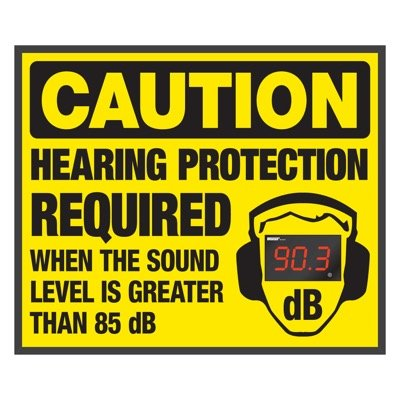 Decibel Meter Signs - Hearing Protection Required