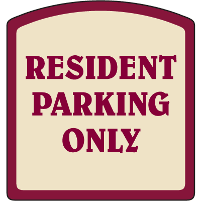 Designer Property Signs - Resident Parking Only