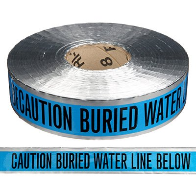 Detectable Underground Warning Tape - Caution Buried Water Line Below