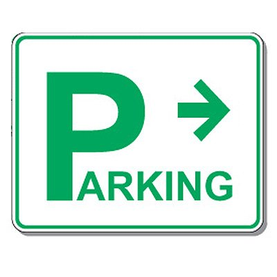Directional Parking Signs - Parking (Right Arrow)