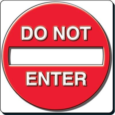 Reflective Traffic Signs - Do Not Enter with 3-D Effect
