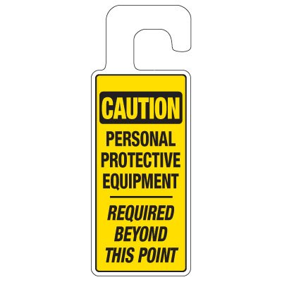 Door Knob Hangers - Personal Protective Equipment