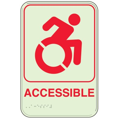 Dynamic Accessibility - Glo-Brite® ADA Braille Signs