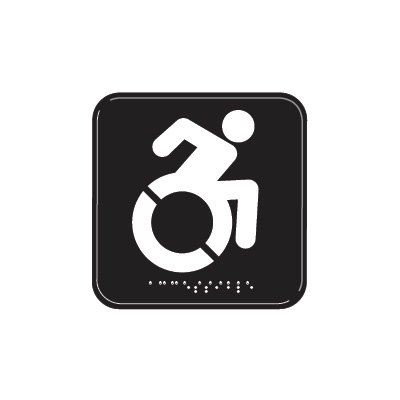 Dynamic Accessibility Symbol - Graphic ADA Braille Tactile Signs