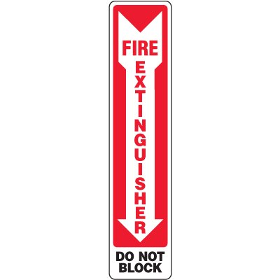 Eco-Friendly Safety Sign - Fire Extinguisher Do Not Block (Arrow Down)