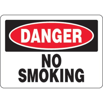 Eco-Friendly Signs - Danger No Smoking