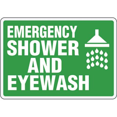 Eco-Friendly Signs - Emergency Shower and Eyewash