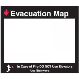 Emergency Evacuation Insert Frames- Evacuation Map