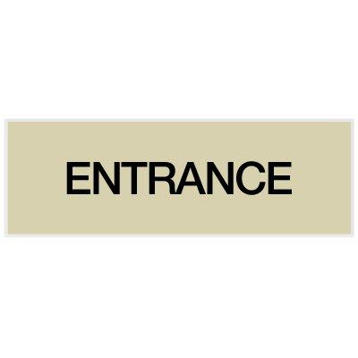 Entrance - Engraved Standard Worded Signs