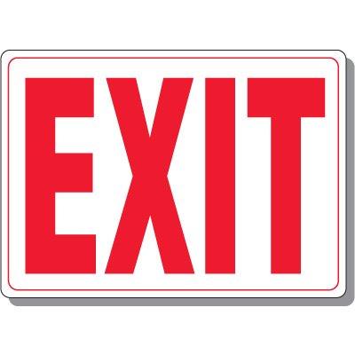 Interior decor Exit Signs