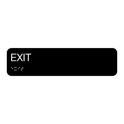 Exit - Standard Worded Braille Signs