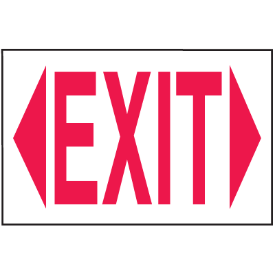 Exit Sign - Polished Plastic Sign