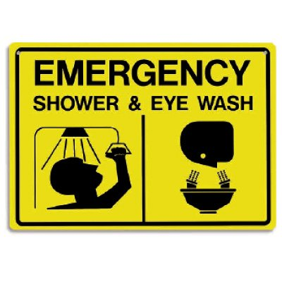 "Emergency Shower & Eye Wash Signs - 14""W X 10""H"